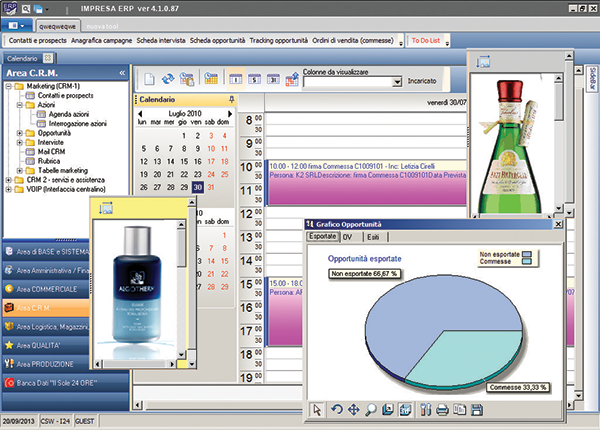 Screenshot Area C.R.M. Marketing e Servizi